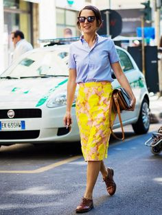 Pair an oxford with a girlie skirt for a cool, new twist.