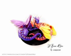 Dragon sculpture  Crystal Dragon couple. OOAK di ilFioredOro