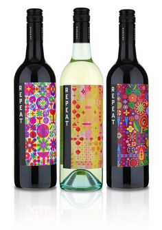 This series from Repeat #Wines was awarded four Gold medals for label #design by the San Francisco International Wine Competition in 2013.