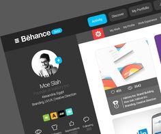 Behance website re-design on Behance