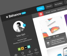 Behance website re-design on Behance