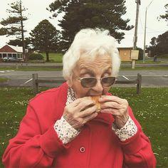 Enjoying a Warrnambool icon. With a Warrnambool idol. #kermonds #granny #eat3280 by juliaworrall
