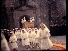 A Corpus Christie procession in a French village in 1960
