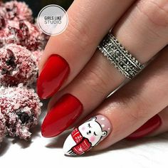 Simple Nail Art Designs That You Can Do Yourself – Your Beautiful Nails Xmas Nail Art, Cute Christmas Nails, Xmas Nails, New Year's Nails, Christmas Nail Art Designs, Holiday Nails, Red Nails, Christmas Trees, Christmas Design
