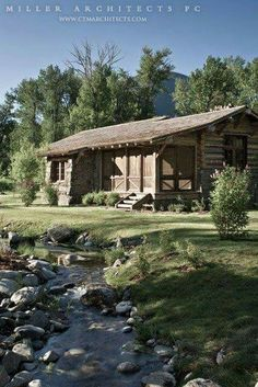 Antique cabins barns by mark bowe barnwood builders for Mother in law log cabin