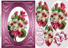 Art Nouveau Hibiscus on Craftsuprint - View Now!
