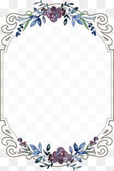 Vintage floral border