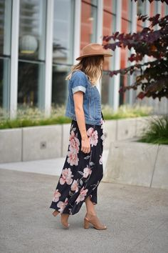 Navy Grace Blog by Camilla Thurman // A Fashion and Lifestyle blog: Floral Maxi (Maternity Style)