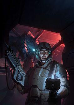http://wraithdt.deviantart.com/art/Bug-Hunts-Cover-Art-551210700
