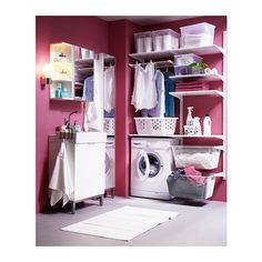 ikea Algot Riel susp / shelves / drying rack.
