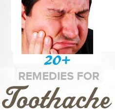 20+ Toothache Remedies For Pain Relief   If there's one list to keep handy–this is the one. It never fails that a major toothache hits when it's late at night and your dentist's office is closed. Although only a doctor or dentist can cure the source of the problem, this list of treatments  pain relief remedies should get you through the night until you can visit the dentist.  Important: If your ...tooth aches, there is a reason for it and it's best to have it taken care of by a