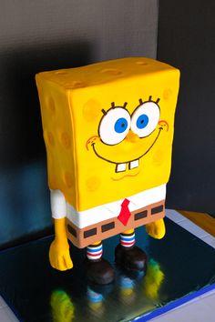 Sponge Bob Sculpted cake