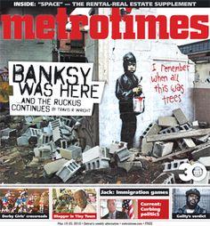 Metro Times - Arts: Banksy bombs Detroit.  GREAT article.