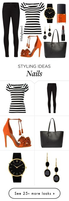 """""""#WhatToWear: #INHMD - Look 2"""" by fabglance on Polyvore featuring Dolce&Gabbana, J Brand, Yves Saint Laurent, Smashbox, NARS Cosmetics, Larsson & Jennings, Argento Vivo, naturalhair, saturday and meetup"""