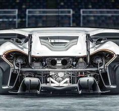 McLaren P1 GTR. 3.8L engine developing 986hp, with a top speed of 225mph. It will go from 0-60 in 2.4 seconds- My first car was a 1957 Chevrolet Belair, with Corvette heads and a Hurst 4 on the floor. That was 1964. Fast forward to this car. Who would have thought. The futuristic concept cars of the time looked like the current Ford Focus. But this, whoa! By the way, my slightly modified 283 block ran 0-60 in 10.25 seconds. McC