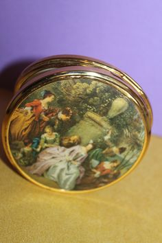 Gathering In The Park by Jean Antoine Watteau By Mascot of England. French Artwork, Luxury Gifts For Her, Savings Box, French Lifestyle, Magnifying Mirror, Money Box, Compact Mirror, Rococo, Vintage Gifts