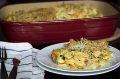 Who doesn't like casseroles???Somewhere between a chicken noodle soup and a chicken pot pie, our chicken noodle casserole combines the best of both worlds, but is actually easier to make. We use parmesan and breadcrumbs to create a crumbly crust-like topping that perfectly compliments the creamy textures below Hearty Chicken Noodle Soup Casserole