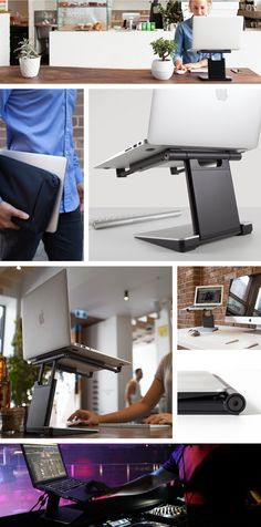 The Tiny Tower | Height Adjustable and Portable Laptop Stand by The Big Tiny Co — Kickstarter
