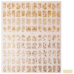 Gellen gelbe Nagel Aufkleber Nail Golden Sticker für Nageldesign+Roll #80