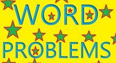 Interactive Education: Word Problems Math Resources, Math Activities, Math Blocks, Math Problem Solving, Math Words, First Grade Math, Second Grade, Math Word Problems, Math Classroom
