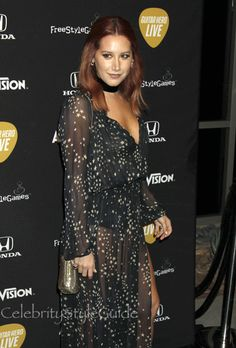 Like The Night Sky: Ashley Tisdale Wore This Beautiful Star Print Maxi Dress