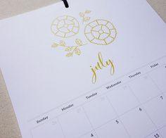 2016 Grid Style Botanical Wall Calendar