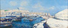 Peinture Port d'Alger - Panorama du Port d'Alger par Pierre Faget-Germain