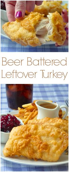 Beer Battered Deep Fried Turkey - one of the most delicious ways ever to serve leftover turkey. Many will actually prefer these leftovers to the original roast turkey dinner!