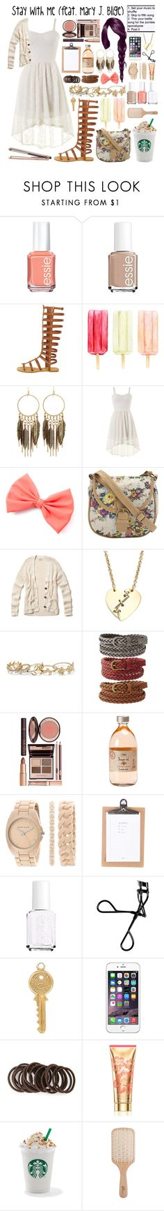 """""""Stay With Me."""" by dyciana ❤ liked on Polyvore featuring Essie, Panacea, Hollister Co., Marc by Marc Jacobs, New York & Company, Charlotte Russe, Charlotte Tilbury, Anne Klein, Bobbi Brown Cosmetics and Annina Vogel"""
