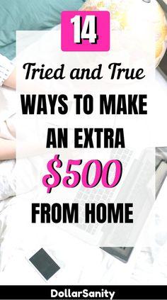Earn Money Fast, Earn Money From Home, Earn Money Online, Make Money Blogging, Online Jobs, Way To Make Money, Money Tips, Legit Work From Home, Making Extra Cash