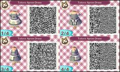 ~Animal Crossing~ QR Codes - Totoro Apron Dress by sakurablossom143.deviantart.com on @deviantART