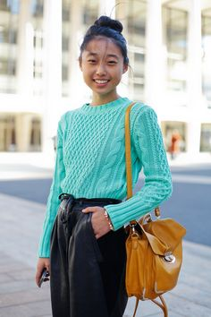 Leather trousers!!  Blogger Margaret Zhang of Shine By Three as photographed by blogger Tamu McPherson. #alltheprettybirds
