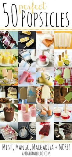 50 Perfect Ice Lollies. This is what I'm craving at the moment.