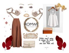 """ROMWE CONTEST"" by bad-wolf-18 ❤ liked on Polyvore featuring Zimmermann, Bliss Studio, Dolce&Gabbana, Moser and Aidan Gray"