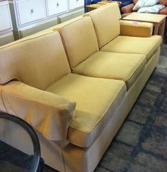 A good start for the living room.  Queen size sofa sleeper, comfy, easy to slip cover.  $129.00