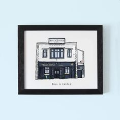 Illustrated pubs of Temple Bar – Cowfield Design Dublin Pubs, Temple Bar, Bar Areas, Irish, Drawings, Frame, Illustration, Gifts, Design