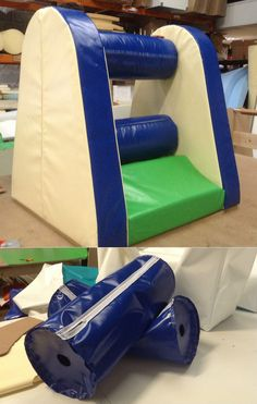 All of our Soft Play products are manufactured in-house and made to measure to suit your room and colour requirements. Here is our Mangle with rotating rollers....