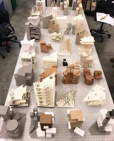 Working models by students at - Reprogramming Civic Architecture undergraduate core studio taught by Adam Young. Layered Architecture, Maquette Architecture, Houses Architecture, Architecture Model Making, Architecture Concept Drawings, Architecture Panel, Architecture Student, Architecture Portfolio, Futuristic Architecture