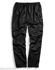 5443aa3d1f70 Champion BIG MEN S Open Bottom Pants BLACK with Grey Side Piping - Size 3XL   Champion