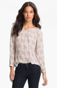Joie 'Robinson' Print Silk Top available at #Nordstrom