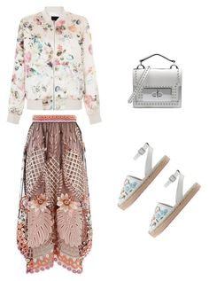 """""""Flowers All Over"""" by jana-raykow on Polyvore featuring New Look, Marc Jacobs, RED Valentino and Temperley London"""