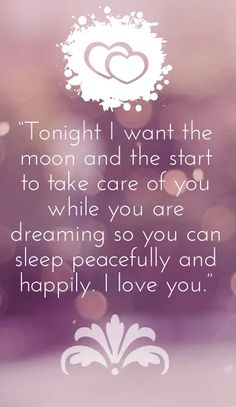 Romantic Dream Quotes to say Goodnight
