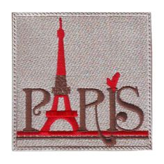 PARIS FRANCE (B) EMBROIDERED PATCH #ThePatchLab
