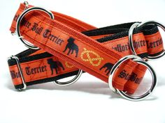 Staffordshire Bull Terrier Motiv, Halsband 30mm breit mit Zugstopp