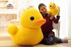 "20cm 8"" Giant Yellow Duck Stuffed Animal Plush Soft Toys Cute Doll ..."