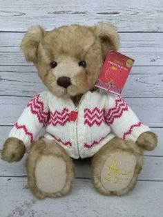 a11d85db5d8 Harrods 2011 Brown Freddie Teddy Bear With Zip Up Sweater 13