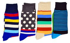 FULIER Mens 4 Pack Stripe Cotton Rich,Comfortable,Breathable,Smart Design Fashion Coloured Socks 6-11