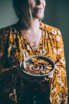 Chocolate Teff Porridge — Will Frolic for Food Teff Recipes, Porridge Recipes, Flour Recipes, Yummy Recipes, Breakfast Porridge, Vegan Breakfast, Healthy Breakfast Recipes, Healthy Recipes, Teff Flour