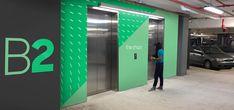 Brickell City Centre Miami, Florida RSM Design is working alongside Simon to transform Brickell City. Floor Signage, Wayfinding Signage, Environmental Graphic Design, Environmental Graphics, Parking Design, Signage Design, Parking Lot, Car Parking, Human Centered Design