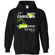 (SCXanhChuoi001) Just A South Carolina Girl In A Connec - #unique hoodie #sweatshirt design. TRY => https://www.sunfrog.com/Valentines/-28SCXanhChuoi001-29-Just-A-South-Carolina-Girl-In-A-Connecticut-World-Black-67938470-Hoodie.html?68278